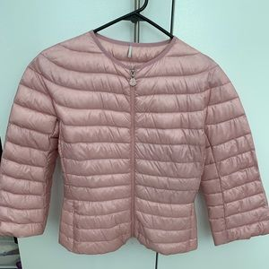 NWT Moncler Pink Cropped Down Jacket